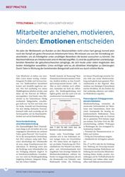 Literatur Mitarbeiterbindung Fachartikel Mitarbeiterbindung - Mitarbeiter anziehen, motivieren, binden: Emotionen entscheiden