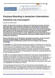Literatur Mitarbeiterbindung Fachartikel Employer Branding in deutschen Unternehmen
