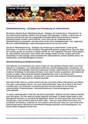 Pressespiegel Mitarbeiterbindung - Mitarbeiterbindung - Strategie und Umsetzung im Unternehmen