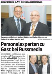 Pressespiegel Mitarbeiterbindung Personalexperten zu Gast bei Russmedia
