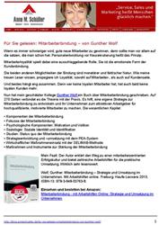 Pressespiegel Mitarbeiterbindung - Für Sie gelesen: Mitarbeiterbindung - von Gunther Wolf