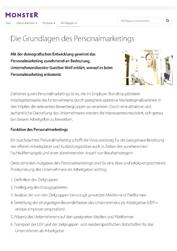 Fachartikel Mitarbeiterbindung: Grundlagen des Personalmarketings