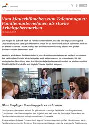 Familienunternehmen als starke Arbeitgebermarken